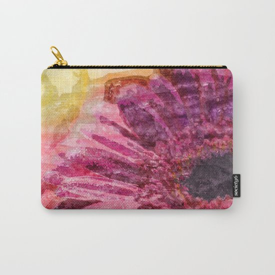 Pink glitter blossom -Floral watercolor illustration Carry-All Pouch