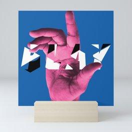 PLAY (blue) Mini Art Print