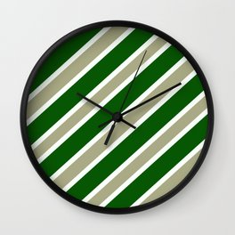 TEAM COLORS 1,,,GREEN ,TAN Wall Clock