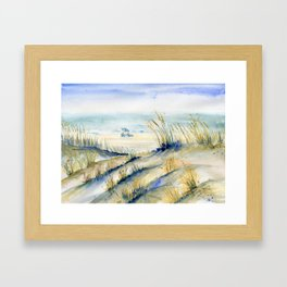 Ocean City Beach Maryland Framed Art Print