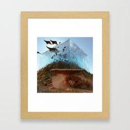 above water Framed Art Print