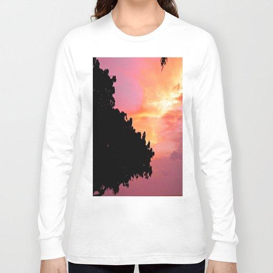 Divi Divi Tree Sunset Long Sleeve T-shirt