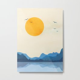 Minimalistic Landscape 11 Metal Print