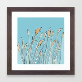 Blowing in the Fens Framed Art Print