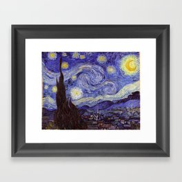 Vincent Van Gogh Starry Night Framed Art Print