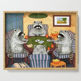 Raccoon 16 playing cards Serving Tray