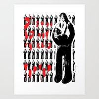 Intergalactic love - Emilie Record Art Print