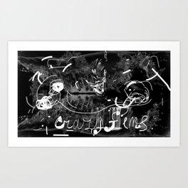 Crazy films opacity Art Print