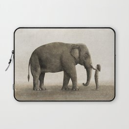 One Amazing Elephant - sepia option Laptop Sleeve
