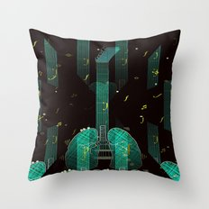 breathing music tonight Throw Pillow