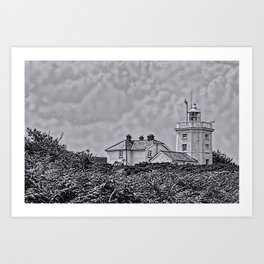 Cromer Lighthouse in Black and White Art Print