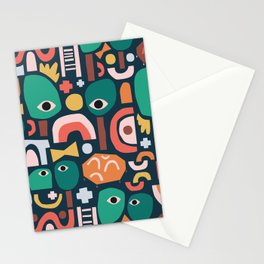 Abstract Playground Stationery Cards