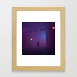 Fog Buildings Framed Art Print
