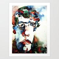 danny ivan Art Prints featuring Ivan by ellen z salov