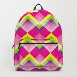 Yellow Green & Purple Chevron Backpack