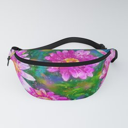 Pink Daisies Flower Party 2 by Jennifer Berdy Fanny Pack