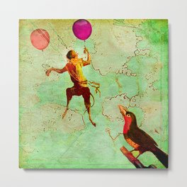 The monkey who wanted to be a bird Metal Print