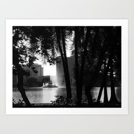 Lake Views Art Print