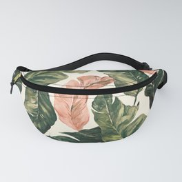 Leaf green and pink Fanny Pack