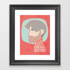 Questions Framed Art Print
