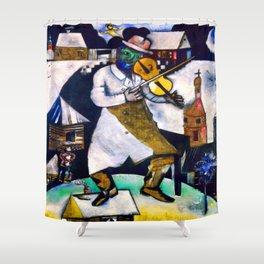 Marc Chagall The Fiddler Shower Curtain