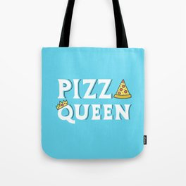 Pizza Queen Blue Tote Bag