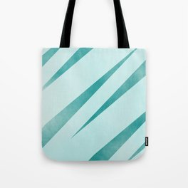 stripes lightblue and dark cyan Tote Bag