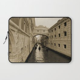 Bridge of Sighs, Venice, Italy, Sepia,  Laptop Sleeve