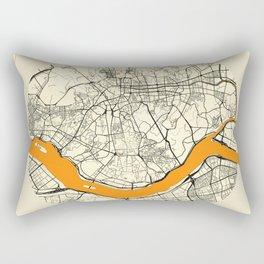 Seoul Map Moon Rectangular Pillow
