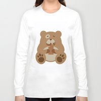 teddy bear Long Sleeve T-shirts featuring Teddy Bear by EinarOux