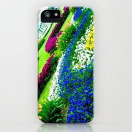 Multicolored tulips. iPhone Case