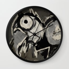 Animal digital painting primitive Wall Clock