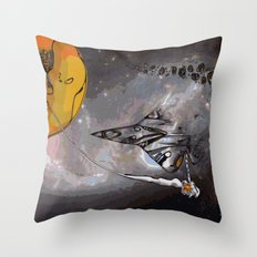 Stealth Bomber Simplified Throw Pillow
