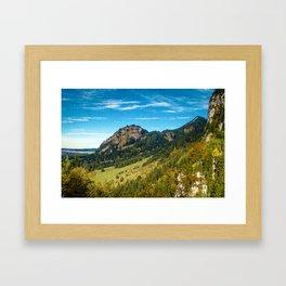 Hohenschwangau Mountains Framed Art Print
