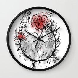 Ultil the last petal falls Wall Clock