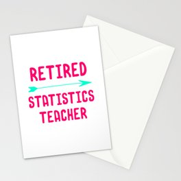 Retired Statistics Teacher Math Research Quote Stationery Cards