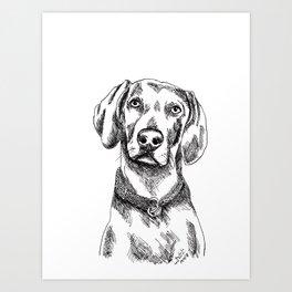 Vizsla is Your Friend Art Print