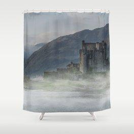 Eilean Donan Castle at dawn Shower Curtain