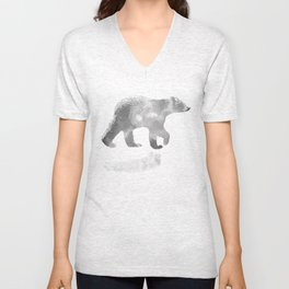 graphic bear III Unisex V-Neck