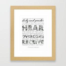 Book of Mormon Quote, Graphic Design Framed Art Print