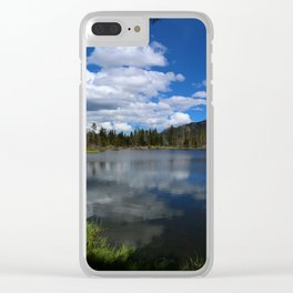Sprague Lake Reflection Clear iPhone Case