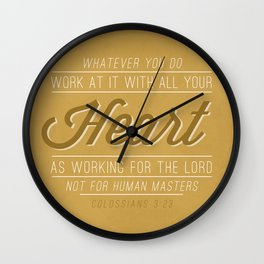 Colossians 3:23 Wall Clock