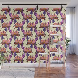 cute crab pattern Wall Mural