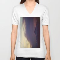 twilight V-neck T-shirts featuring Twilight by Augustina Trejo