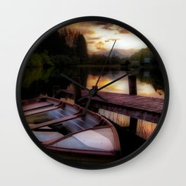 Summer Sunset Over Loch Ard Wall Clock