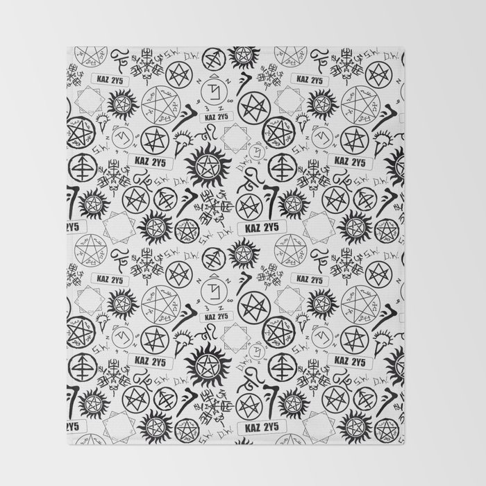 Supernatural Symbols Throw Blanket