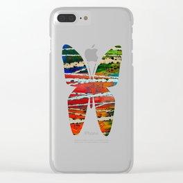 Birch Tree Stitch Clear iPhone Case