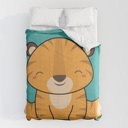 Kawaii Cute Baby Tiger Comforters