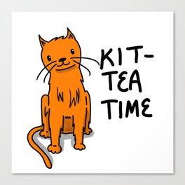 Kit-Tea Time | Veronica Nagorny  Canvas Print