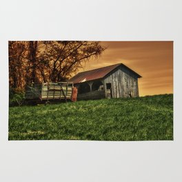 Barn on the Hill Rug